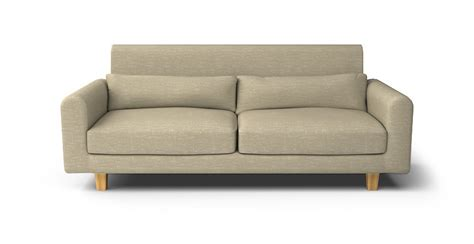 Nikkala Cover by Nikkala 3 Seater Sofa With Hook Velcro Slipcover