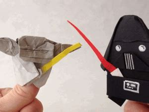 How To Make The Real Origami Yoda - tom angleberger s cover yoda vs cover darth paper