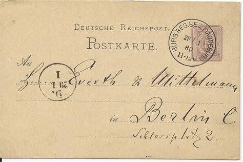 bez gestelle magdeburg dr 1880 klaucke nr 33 burg reg bez magdeburg auf 5 pf