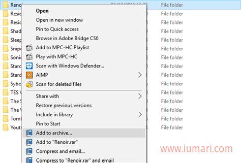 membuat zip folder cara membuat file folder dengan bentuk rar atau zip namina