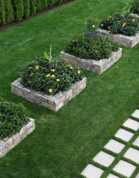 flower bed stones stunning stone flower beds you can easily make