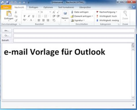 Outlook Vorlagen Muster E Mail Vorlage In Outlook Erstellen Computerfuzzy De