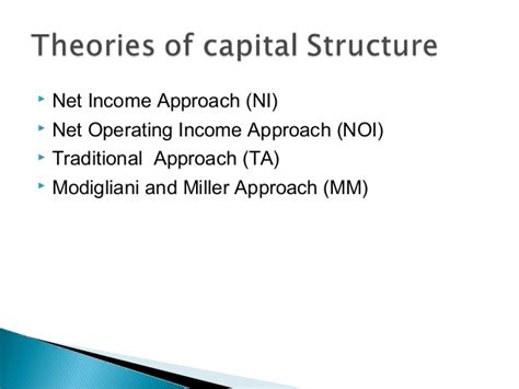 Mba Ppt On Capital Structure by Capital Structure Ppt