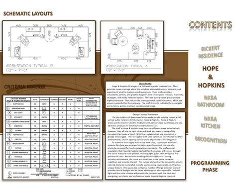 design concept matrix interior design portfolio