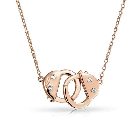 handcuff necklace cz 925 sterling silver secret shades