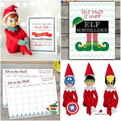On The Shelf Free Printable Props
