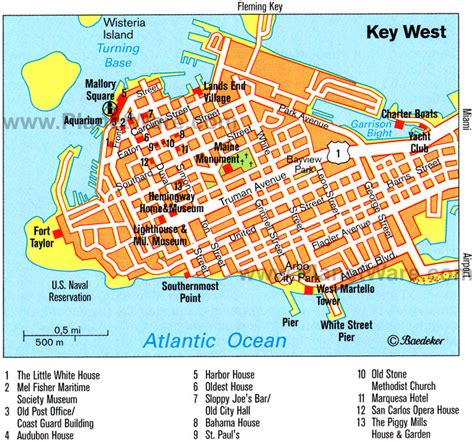map of key west florida key west usa cruise port of call