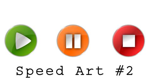 Stop Play by Play Pause And Stop Icons Speed Inkscape