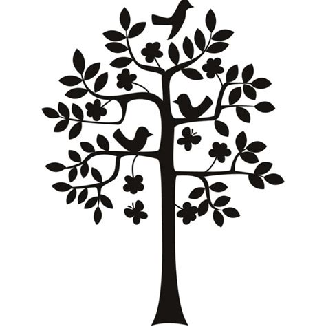 tree silhouette wall sticker birds in a tree silhouette flowers and trees wall stickers home decor decals