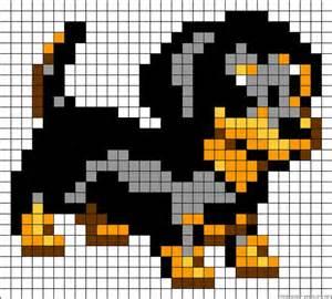 dog perler bead pattern pixel art pinterest chiots