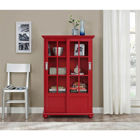 altra bookcase with sliding glass doors altra aaron bookcase with sliding glass doors