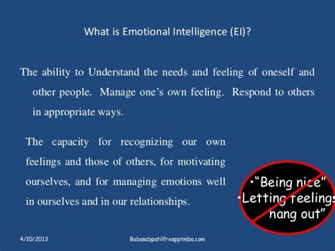 What Is An Mba In Business Intelligence And Analytics by Emotional Intelligence Sets Apart Leader Ppt On Hrm Mba