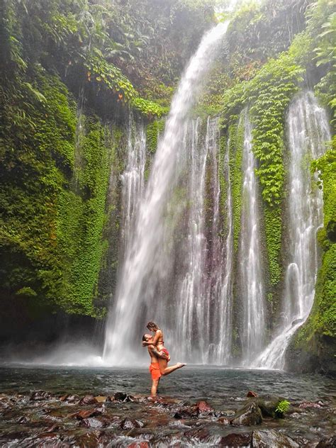 find  tiu kelep waterfall  lombok travel