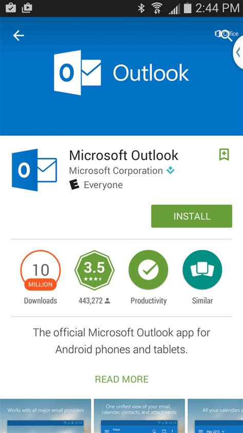 outlook app for android image gallery outlook app