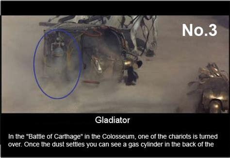 gladiator film errors top 15 movie mistakes noticed gladiator