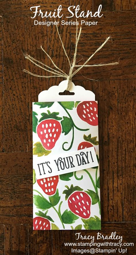 How To Dress Up A Gift Card - gift card sleeve using fruit stand dsp sting with tracy