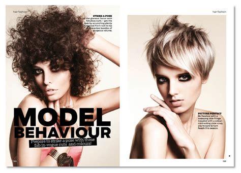 ideas mag hair ideas magazine layout design typography on behance