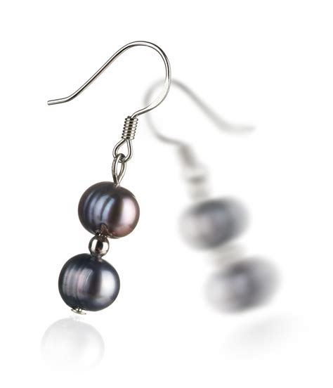 Freshwater Pearl Earring black freshwater pearl earrings