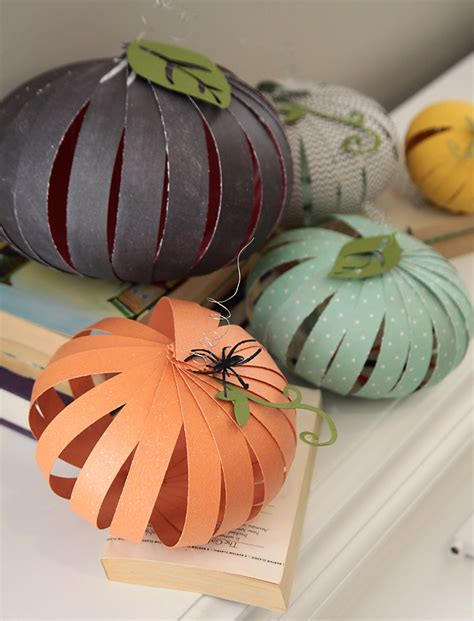 How To Make A Pumpkin Out Of Paper - how to make paper pumpkins easy