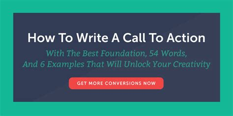 how to write a call to action with 54 words 6 exles
