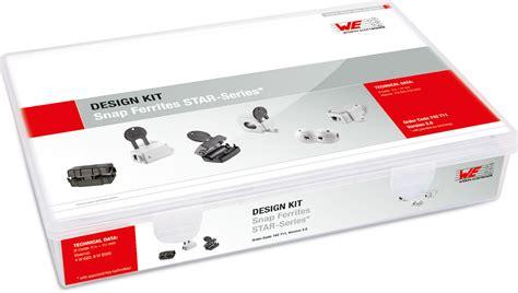 design kits online snap ferrites design kits emc components wurth