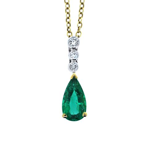 emerald and pendant from heming jewellers