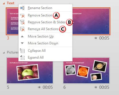 removing sections in powerpoint 2013 powerpoint tutorials