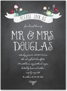 chalk talk after wedding brunch invitations in charcoal magnolia press