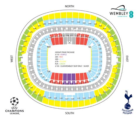 tottenham wembley seating plan away fans chions league ticket details reminder 25 july 2016