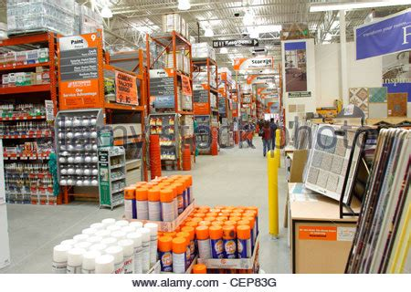 interior of home depot home improvement store stock photo