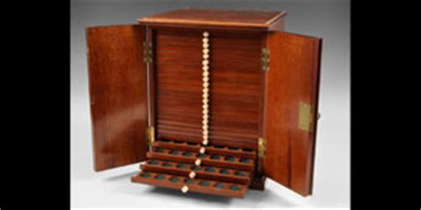 Coin Cabinet by Superb Turton Antique Mahogany Coin Cabinet Lot No 0406