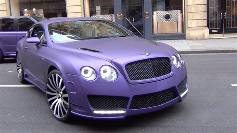 matte purple bentley purple mansory bentley continental gt custom 1 of 1