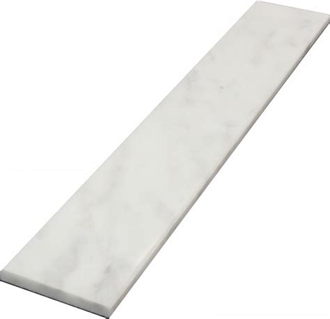 carrara carrera venato 6x36 threshold saddle polished