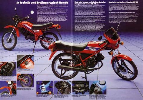 Honda Motorr Der 50ccm by German Brochures Uk Honda Mb5 Web Site