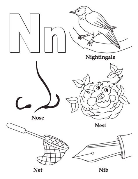 Letter N Coloring Pages Free by Get This Letter N Coloring Pages N38nc