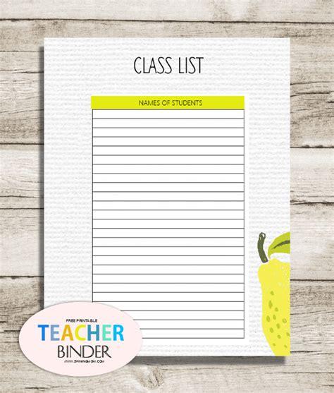 class list printable free binder printables 25 pretty planning