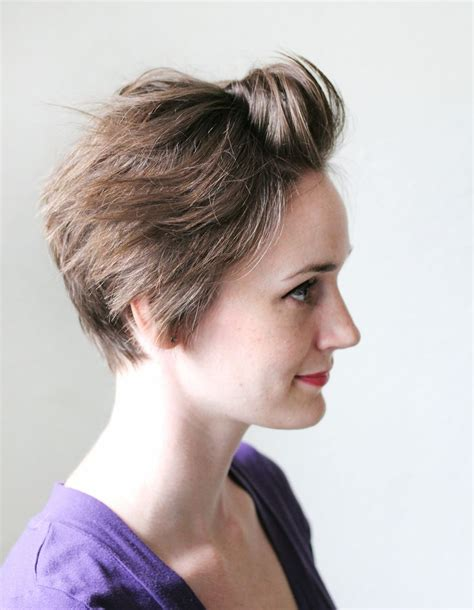 how to cut own pixie 3 ways to style a pixie cut a beautiful mess