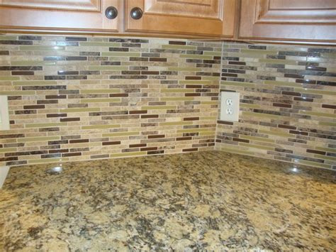 kitchen backsplash ideas with santa cecilia granite glass mosaic santa cecilia granite kitchen