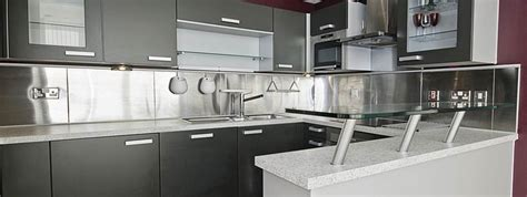 kitchen design idea install a stainless steel backsplash 7 ideas for backsplash materials you can install in your