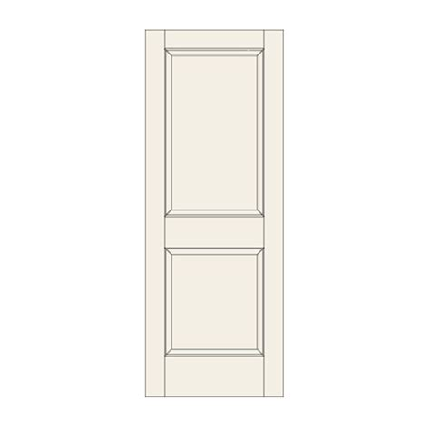 22 Closet Door C22 Two Panel Door Craftwood Products For Builders And Designers In Chicago