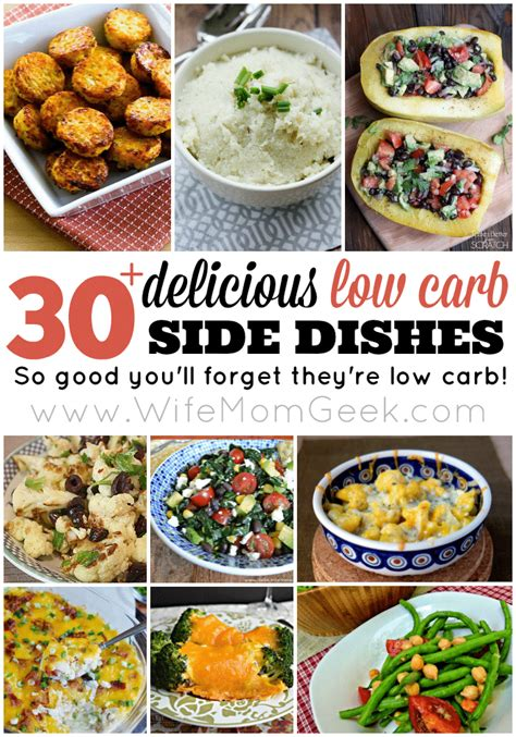 30 delicious low carb side dishes