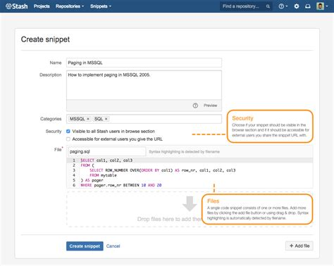 html design snippets simplenia snippets for bitbucket server
