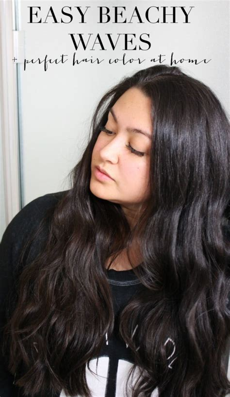 easy beachy waves at home hair color andrea bai