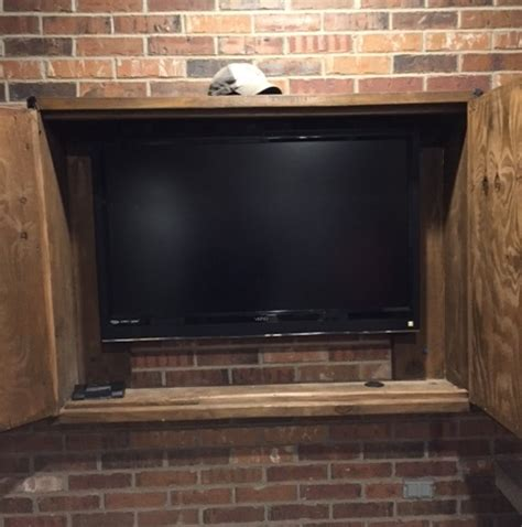 project spotlight outdoor tv cabinet with a texas touch