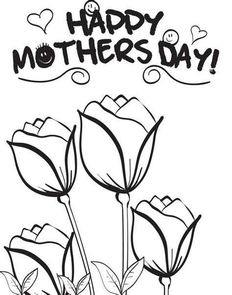 printable flowers mother s day free printable mother s day flowers coloring page for kids 3