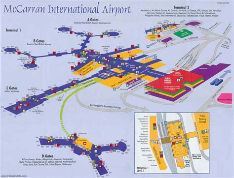 las vegas map las vegas airport las vegas airport transportation