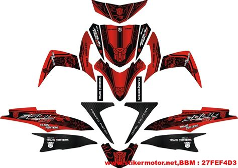 Best Sticker Striping Motor Stiker Mio Sporty Tech3 Spec B Terlaris striping mio soul gt transformer stikermotor net