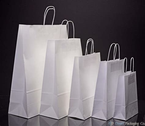 white kraft paper carrier bags with twisted handles ebay