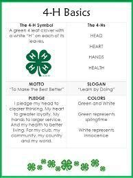 4 H Resume by Pleasant Valley 4 H Club Carroll County Maryland 4 H