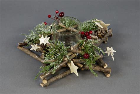 teelicht kerzenhalter adventskranz teelicht kerzenhalter 25x8cm mit tanne und beeren ga